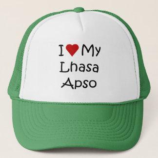 I Liebe meine Hundeliebhaber-Geschenke Lhasas Apso Truckerkappe