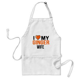 I Liebe meine Ingwer-Ehefrau Schürze