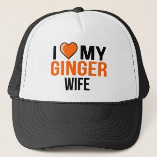 I Liebe meine Ingwer-Ehefrau Truckerkappe