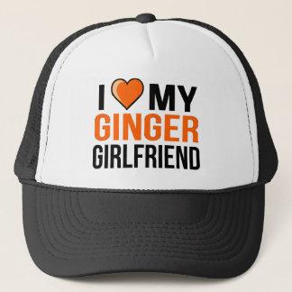 I Liebe meine Ingwer-Freundin Truckerkappe