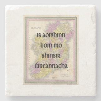 I Liebe meine irischen Gewohnheits-Untersetzer der Steinuntersetzer