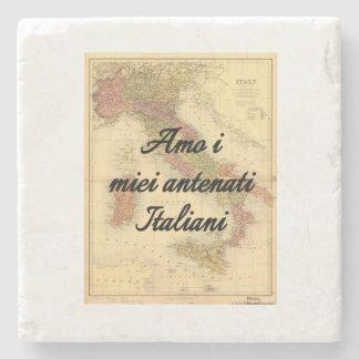 I Liebe meine italienischen Steinuntersetzer