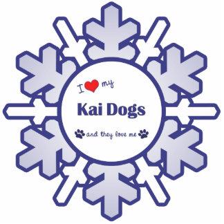 I Liebe meine Kai Hunde (mehrfache Hunde) Fotoausschnitte