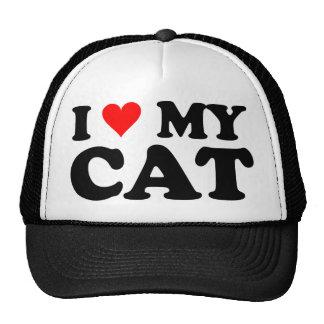 I Liebe meine Katze Baseballkappen