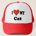 I Liebe meine Katzen-Baseballmütze - Hut Truckerkappe