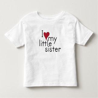 I Liebe meine kleine Schwester Kleinkinder T-shirt