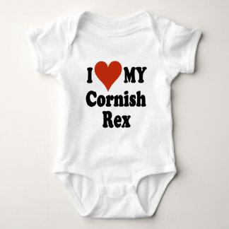 I Liebe meine kornischen Rex Katzen-Waren Baby Strampler
