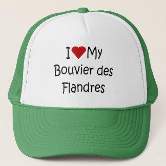 I Liebe meine Liebhaber-Geschenke Bouvier DES Truckerkappe