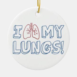 I Liebe meine Lungen Keramik Ornament