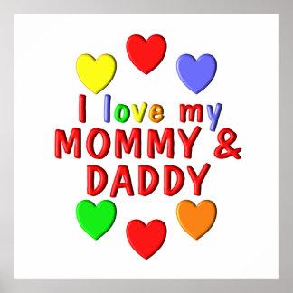 I Liebe meine Mama und Vati Poster