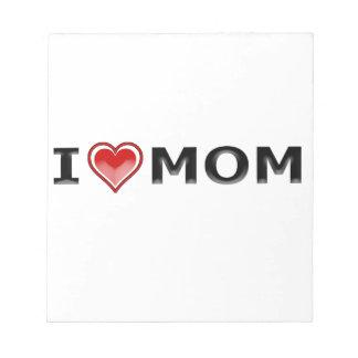 I Liebe meine Mamma Notizblock