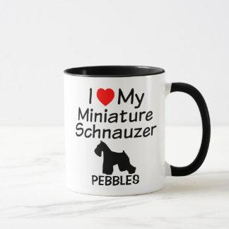 I Liebe meine Miniaturschnauzer-HundeTasse Tasse