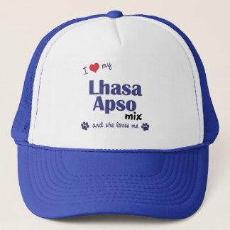 I Liebe meine Mischung Lhasas Apso (weiblicher Truckerkappe