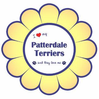 I Liebe meine Patterdale Terrier (mehrfache Hunde) Fotoskulptur Ornament