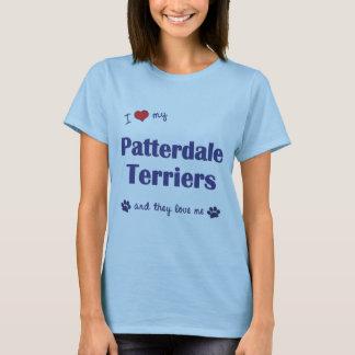 I Liebe meine Patterdale Terrier (mehrfache Hunde) T-Shirt