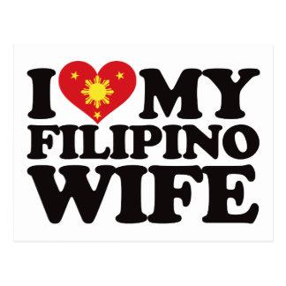 I Liebe meine philippinische Ehefrau Postkarte