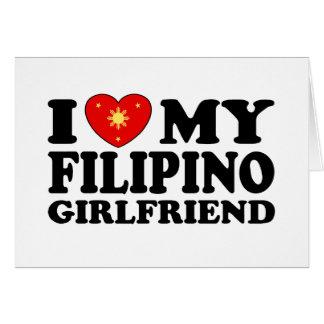 I Liebe meine philippinische Freundin Karte