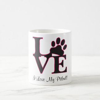 I Liebe meine Pitbull Kaffee-Tasse
