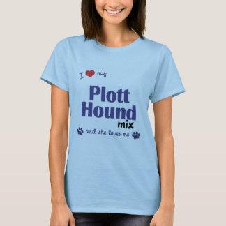 I Liebe meine Plott Jagdhund-Mischung (weiblicher T-Shirt