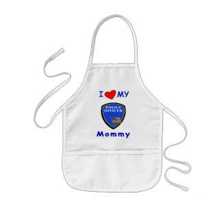 I Liebe meine Polizei-Mama Kinderschürze