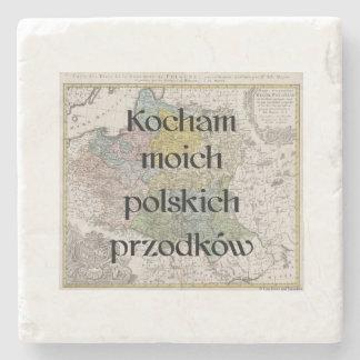 I Liebe meine polnischen Gewohnheits-Untersetzer Steinuntersetzer