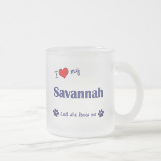I Liebe meine Savanne (weibliche Katze) Mattglastasse