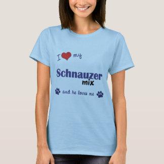 I Liebe meine Schnauzer-Mischung (männlicher Hund) T-Shirt