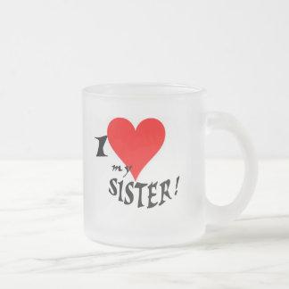 I Liebe meine Schwester-Tasse, für Brüder Matte Glastasse