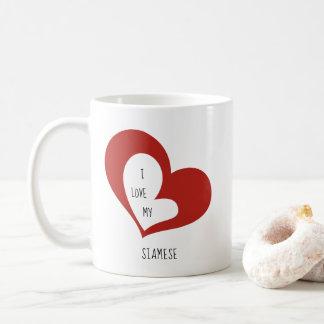 I Liebe meine siamesische Katze Kaffeetasse