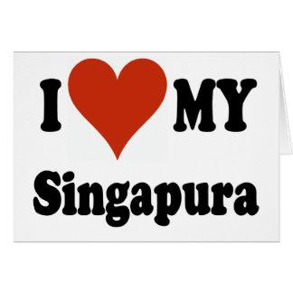 I Liebe meine Singapura Katzen-Waren Karte