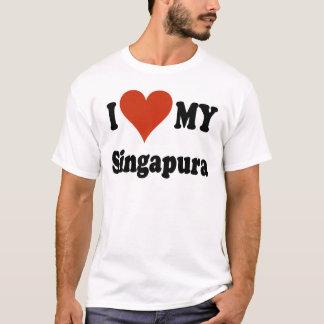 I Liebe meine Singapura Katzen-Waren T-Shirt