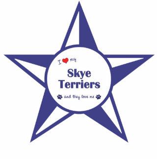 I Liebe meine Skye Terrier (mehrfache Hunde) Photo Skulpturen