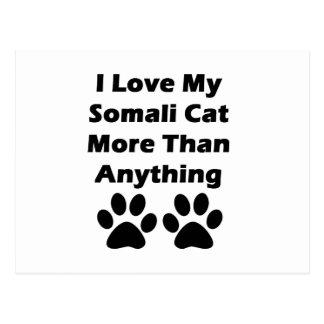 I Liebe meine somalische Katze mehr als alles Postkarte