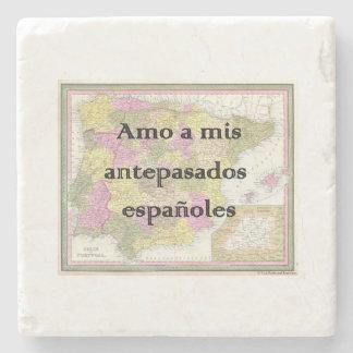 I Liebe meine spanischen Gewohnheits-Untersetzer Steinuntersetzer