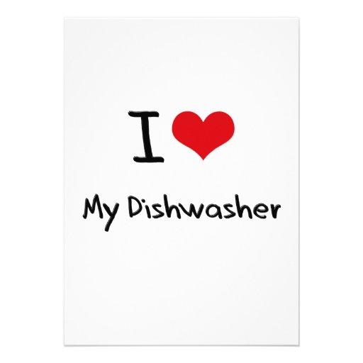 I Liebe meine Spülmaschine Individuelle Ankündigskarten