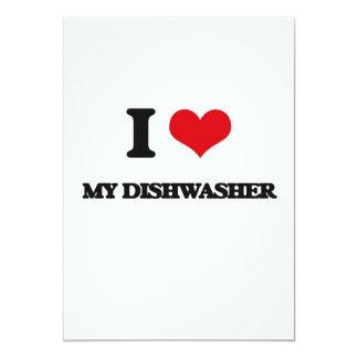 I Liebe meine Spülmaschine 12,7 X 17,8 Cm Einladungskarte