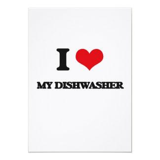 I Liebe meine Spülmaschine Ankündigungskarten
