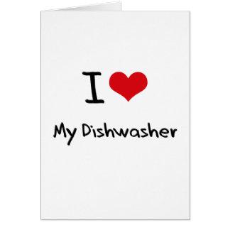 I Liebe meine Spülmaschine Karten