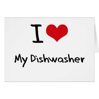 I Liebe meine Spülmaschine Grußkarten
