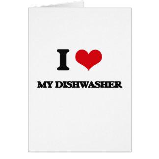 I Liebe meine Spülmaschine Grußkarte