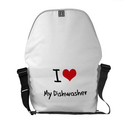 I Liebe meine Spülmaschine Kuriertasche
