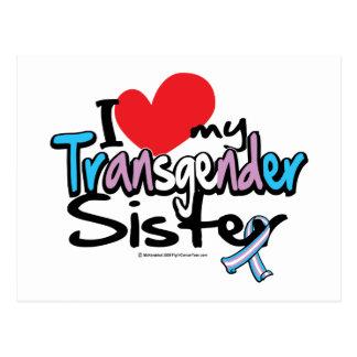 I Liebe meine Transgender-Schwester Postkarte
