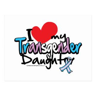 I Liebe meine Transgender-Tochter Postkarte