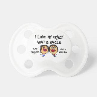 I Liebe meine verrückte Tante und Onkel Cartoon Baby Schnuller