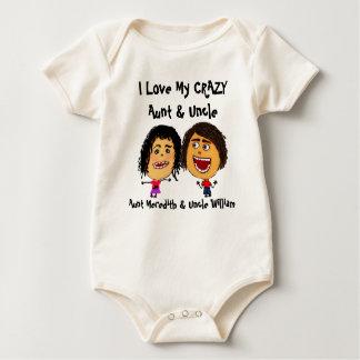 I Liebe meine verrückte Tante und Onkel Cartoon Baby Strampler