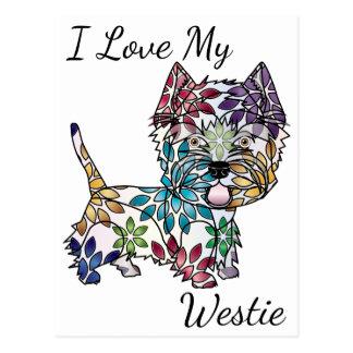 I Liebe meine Westie Postkarte