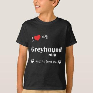 I Liebe meine Windhund-Mischung (männlicher Hund) T-Shirt