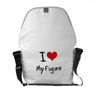 I Liebe meine Zahl Kurier Taschen