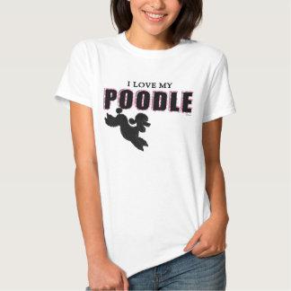 I Liebe meiner schwarzen Pudel-T-Shirt Frauen Shirts