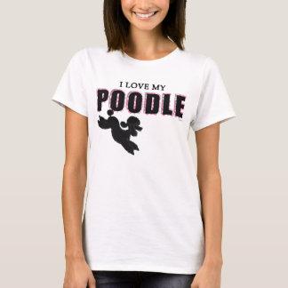 I Liebe meiner schwarzen Pudel-T-Shirt Frauen T-Shirt